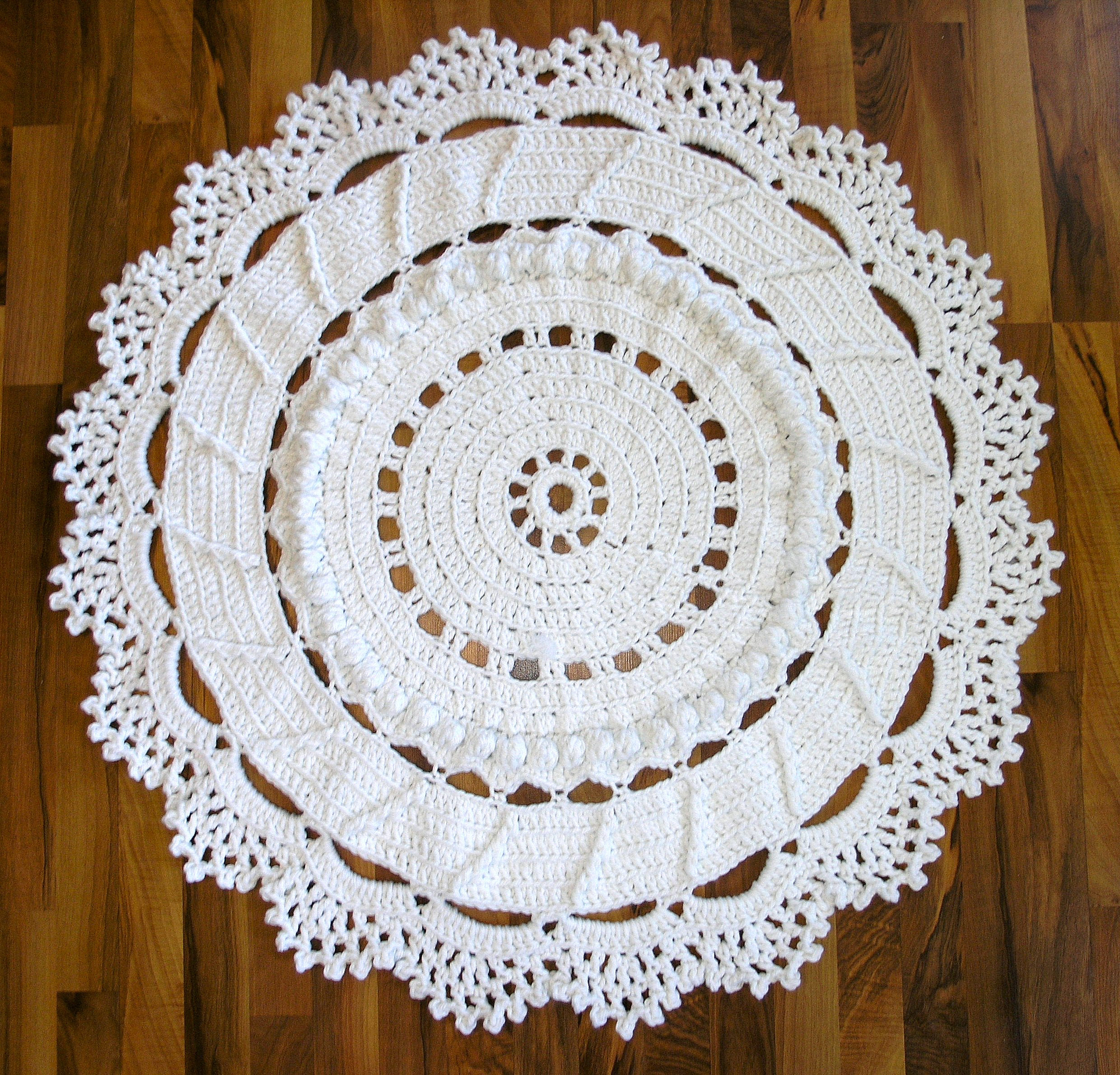 Dances With Wools Blog Archive A Giant Crochet Doily Rug For Our
